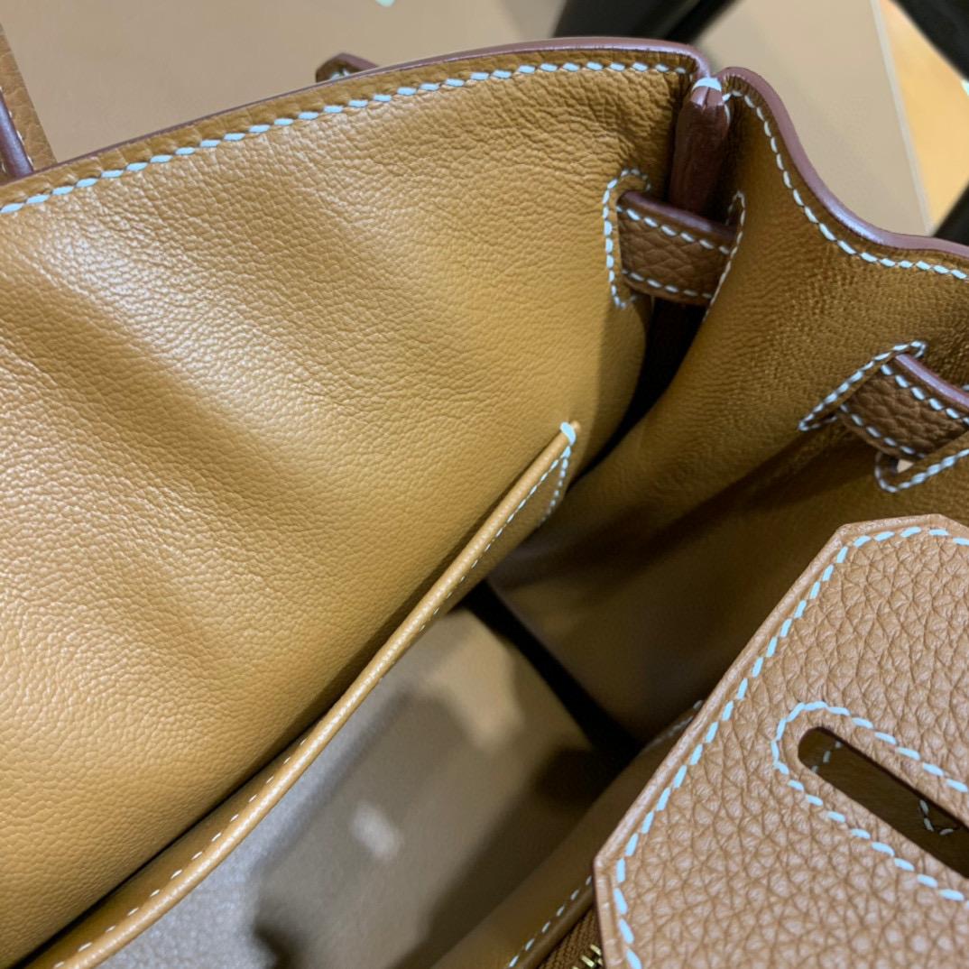 爱马仕 Hermes 铂金包 Birkin 25CM Togo皮 全手工 金棕色 金扣