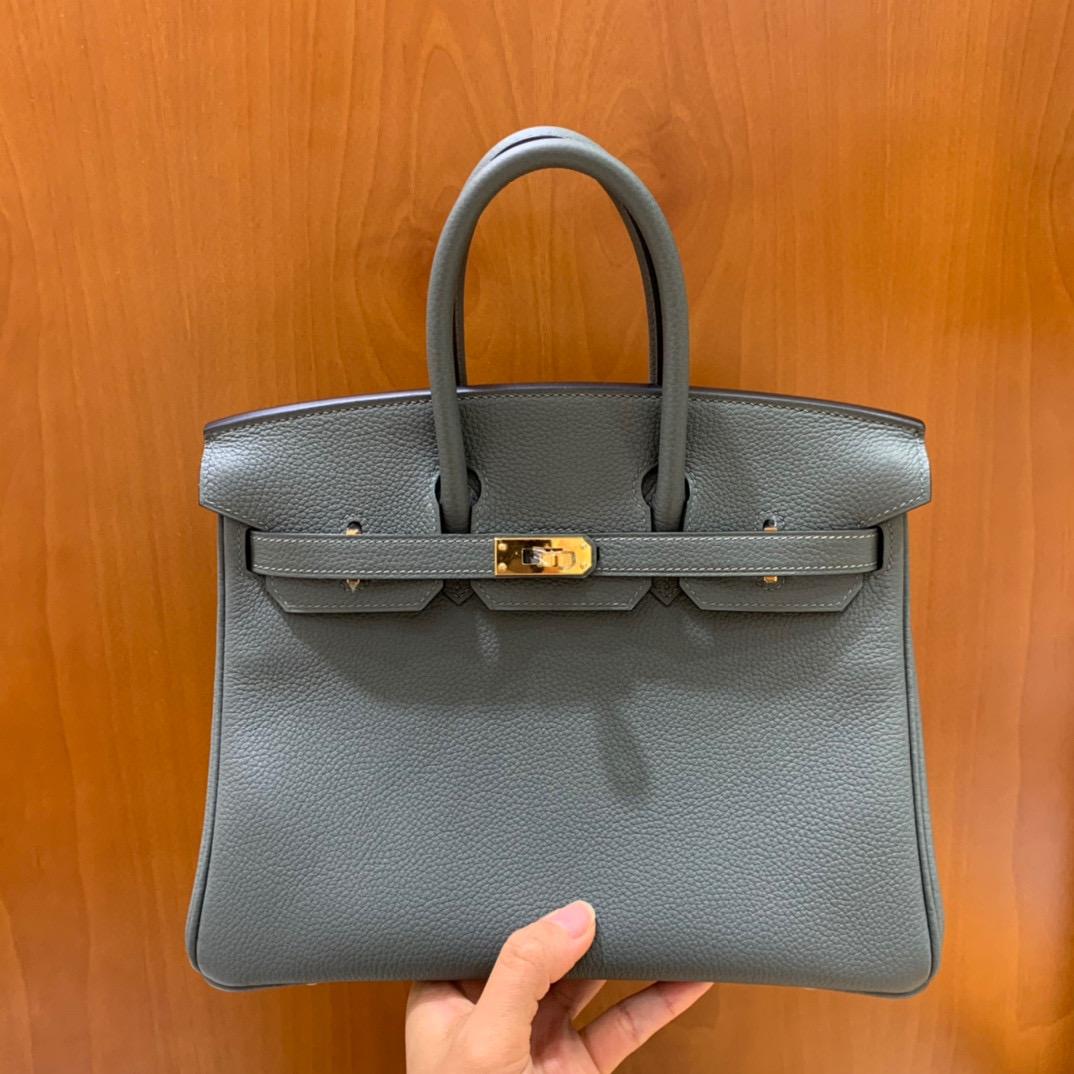Hermès(爱马仕)Birkin  铂金包 Togo 杏仁绿 金扣 25CM 全手工