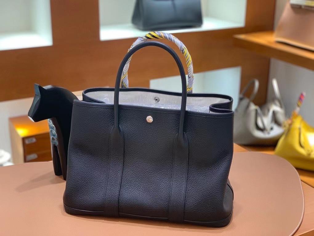Hermès(爱马仕)Garden Party 花园包 negonda 黑色 30cm 银扣