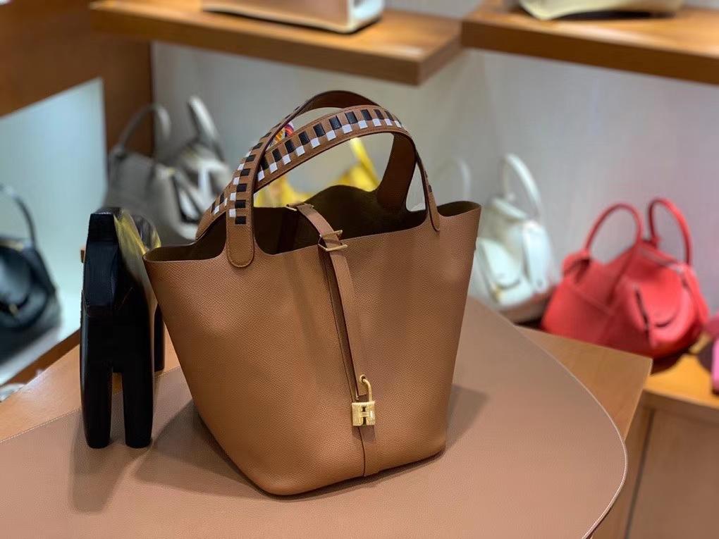Hermès(爱马仕)Picotin 菜篮子 epsom 金棕色 22cm 金扣 现货