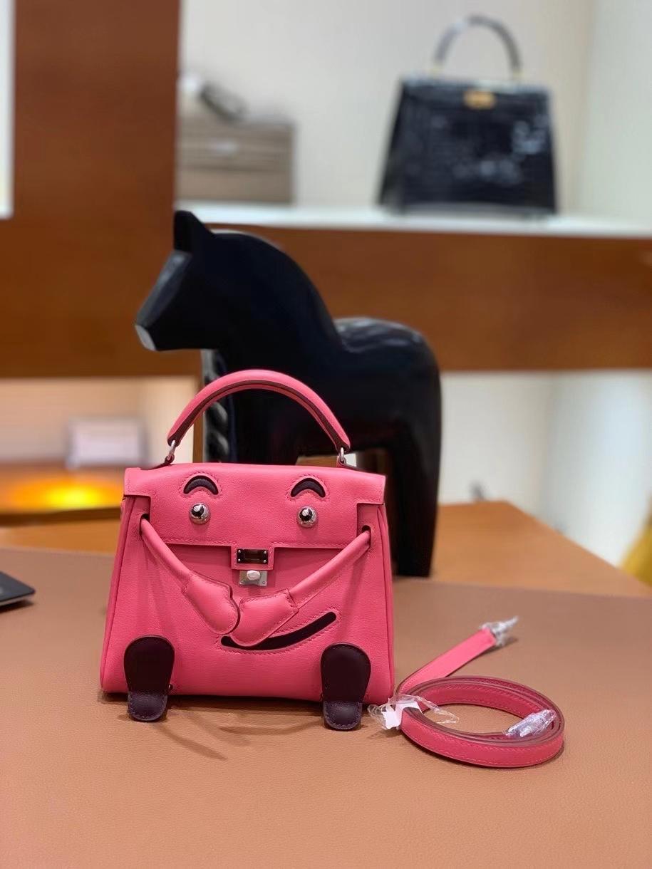 Hermès(爱马仕)Kelly doll swift 唇膏粉 16cm 银扣 现货