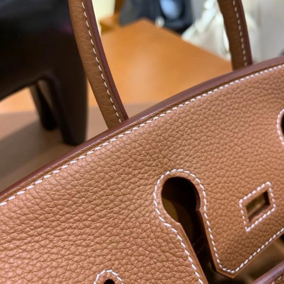Hermès(爱马仕)Birkin 铂金包 Togo 金棕色 金扣 25cm