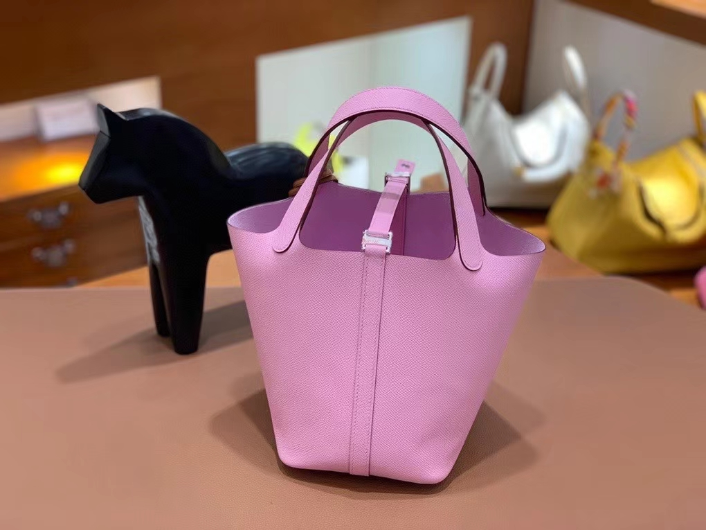 Hermès(爱马仕)Picotin 菜篮子 epsom 锦葵紫 18cm 银扣 现货