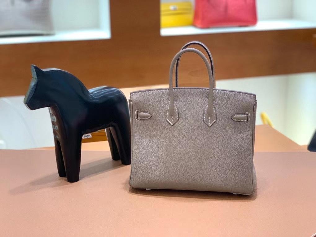 Hermès(爱马仕)Birkin 铂金包 Togo 大象灰 银扣 25cm