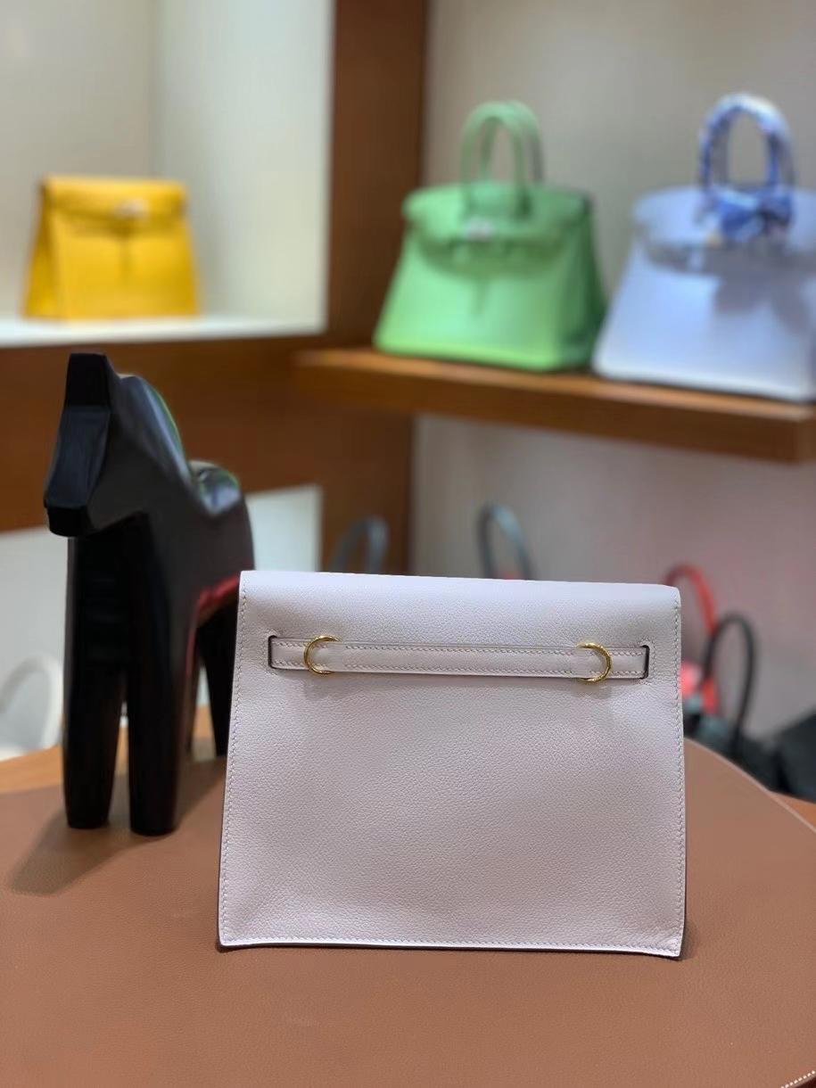 Hermès(爱马仕)Kelly danse evercolor 8L奶油白 22cm 金扣 现货