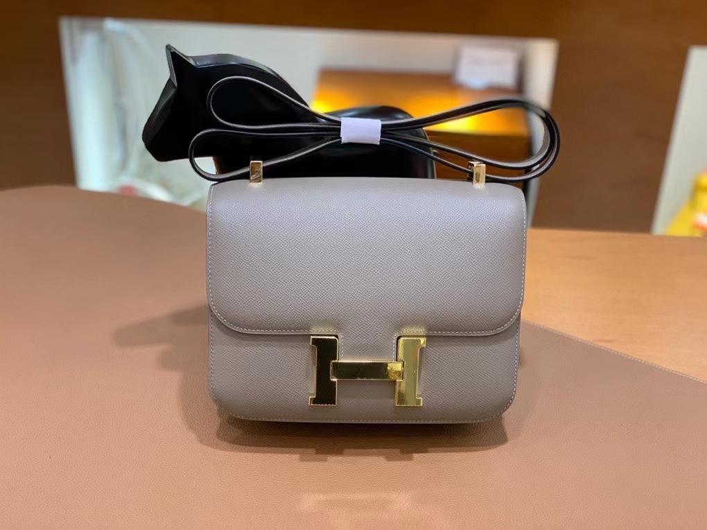 Hermès(爱马仕)Constance 空姐包 epsom 沥青灰 金扣 24cm 现货