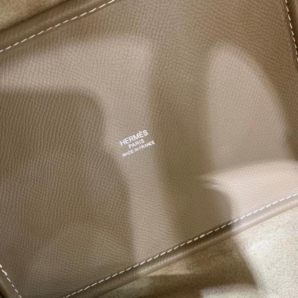 Hermès(爱马仕)Picotin 菜篮子 epsom 大象灰 18cm 银扣 现货