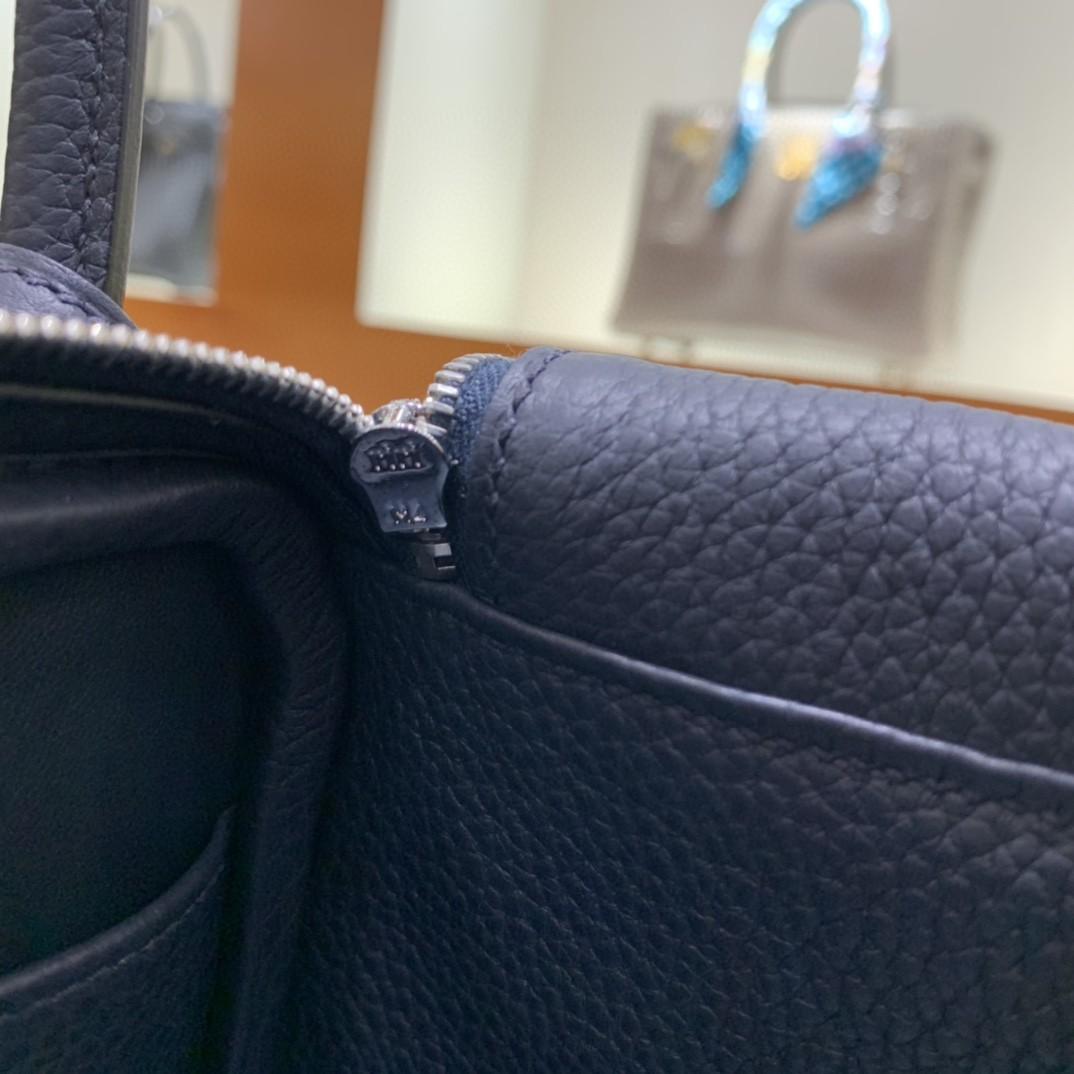 Hermès(爱马仕)Lindy 琳迪包 TC 午夜蓝 银扣 26cm 现货