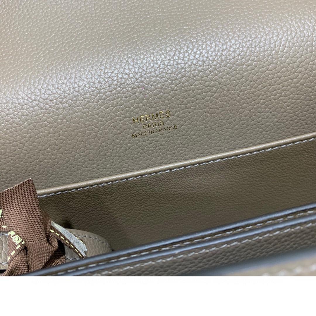Hermès(爱马仕)Roulis 猪鼻子 evercolor 沥青灰 23cm 金扣 现货
