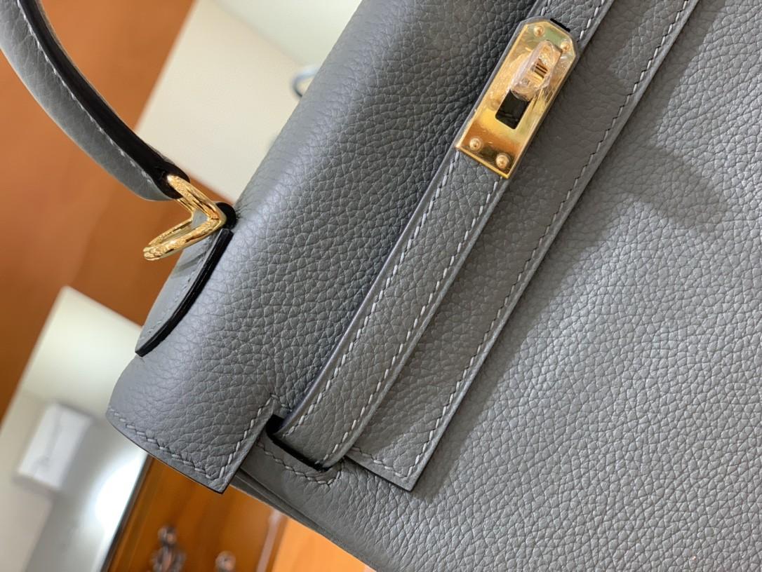 Hermès(爱马仕)Kelly 凯莉包 Togo 杏仁绿 金扣 25cm