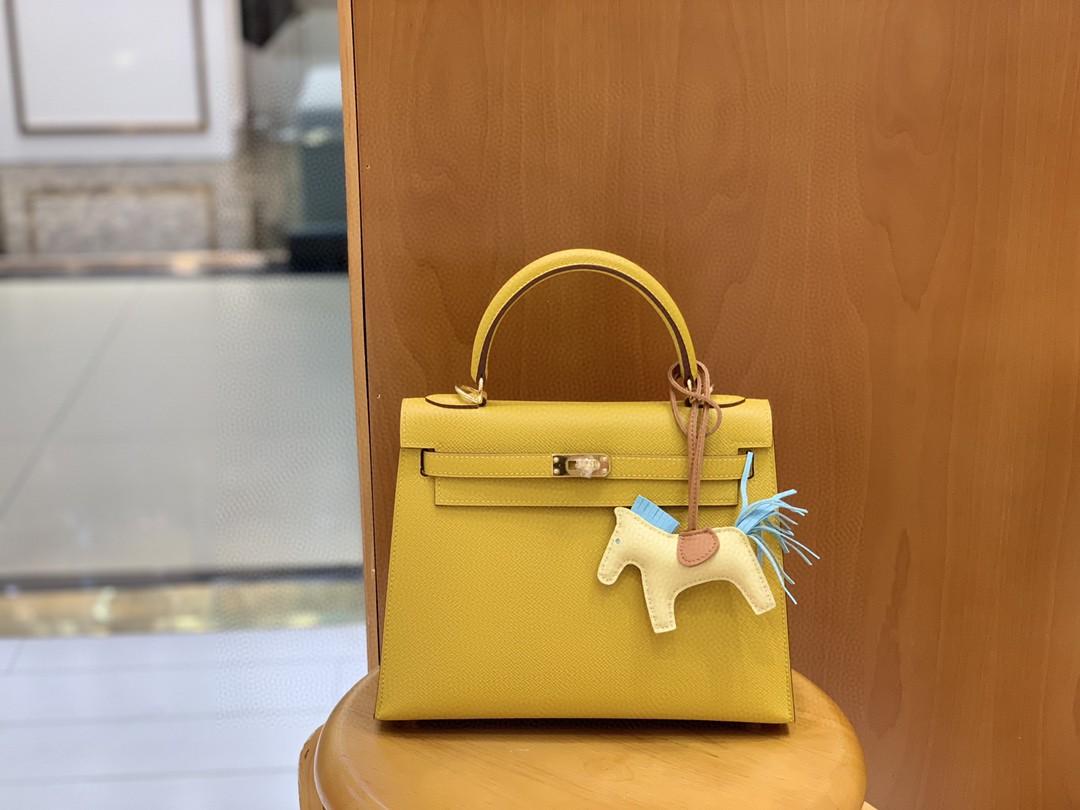 Hermès(爱马仕)Kelly 凯莉包 Epsom 琥珀黄 金扣 25cm