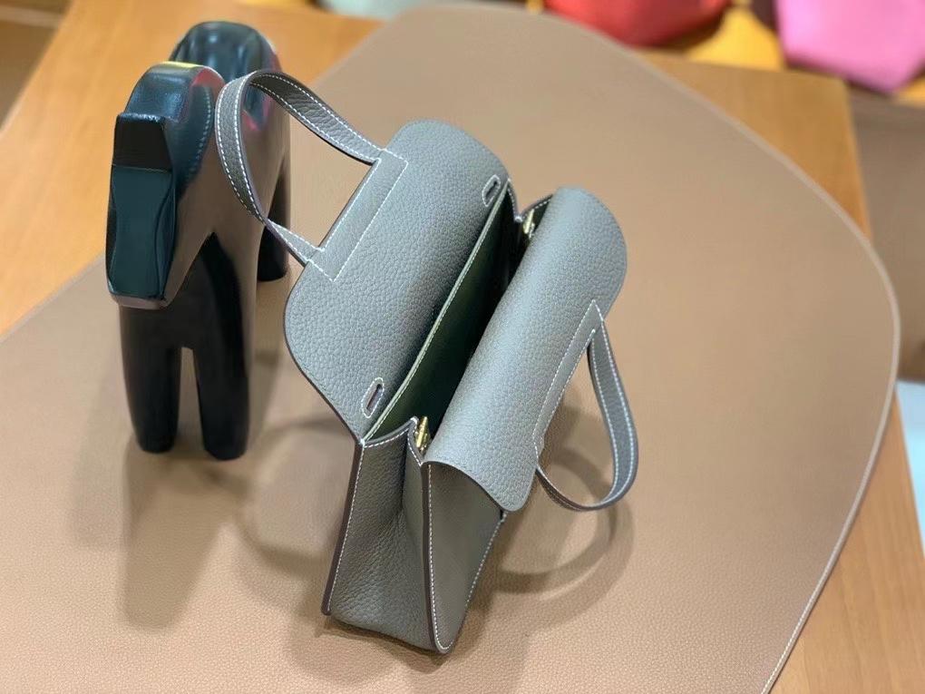 Hermès(爱马仕)TC 大象灰 Halzan 22cm 金扣 现货
