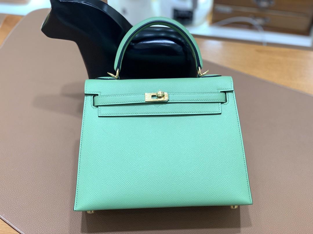Hermès(爱马仕)Kelly 凯莉包 Epsom 牛油果绿 金扣 25cm