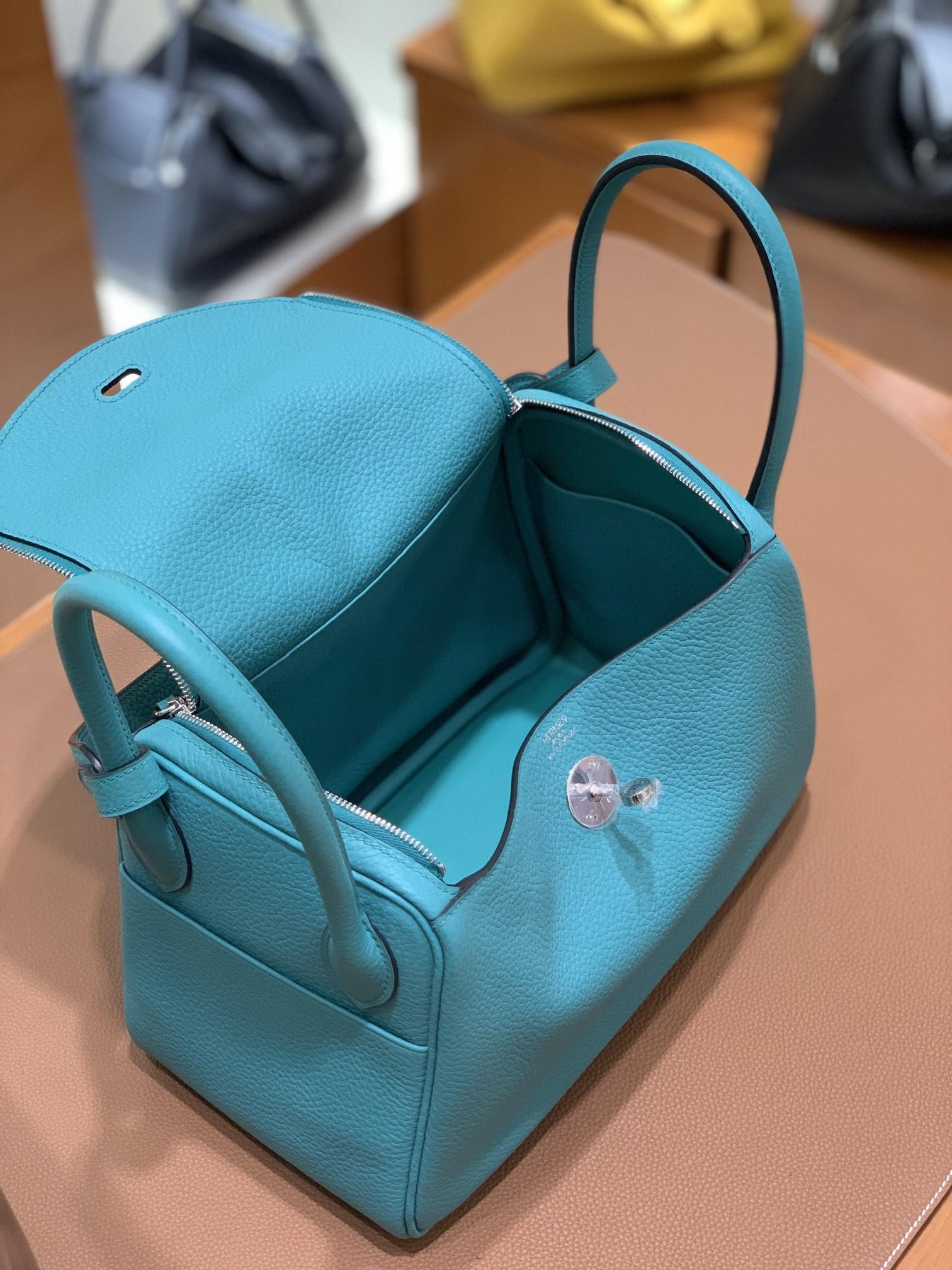 Hermès(爱马仕)Lindy 琳迪包 TC 维罗纳绿 银扣 26cm 现货