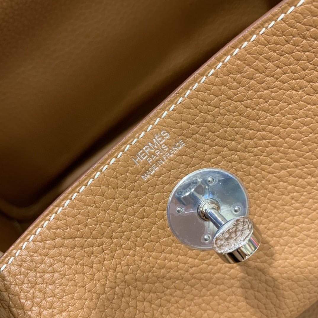 Hermès(爱马仕)Lindy 琳迪包 TC 金棕色 银扣 26cm 现货