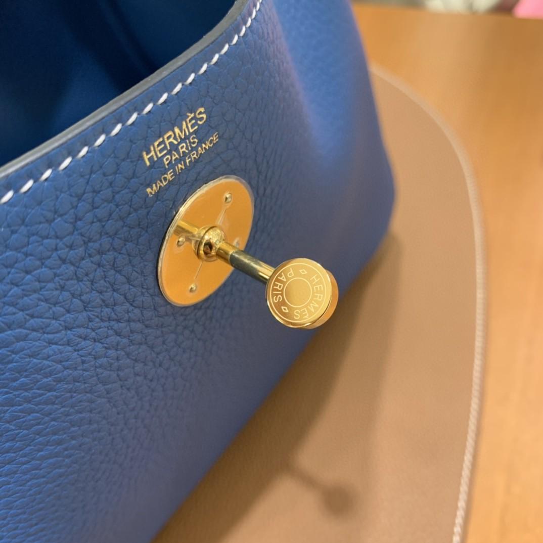 Hermès(爱马仕)Lindy 琳迪包 TC 牛仔蓝 金扣 26cm 现货