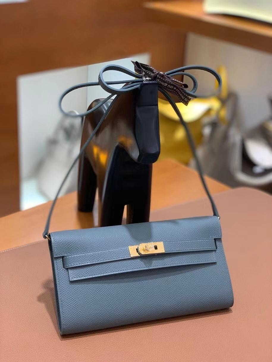Hermès(爱马仕) Epsom CC60 杏仁绿 Kelly to go wallet 金扣 现货