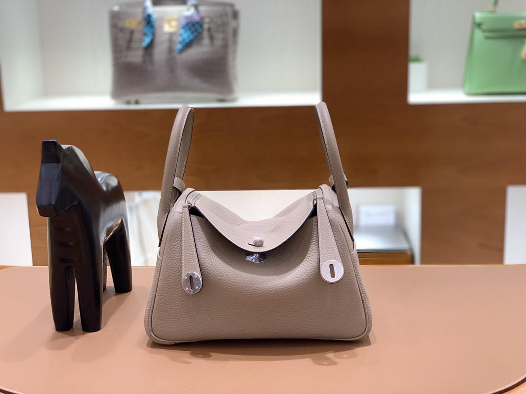 Hermès(爱马仕)Lindy 琳迪包 TC 斑鸠灰 银扣 26cm 现货