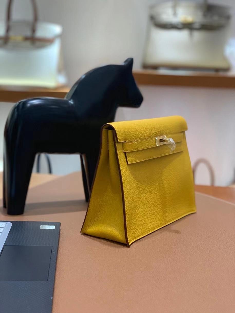 Hermès(爱马仕)evercolor 9D琥珀黄 Kelly danse 22cm 金扣 现货