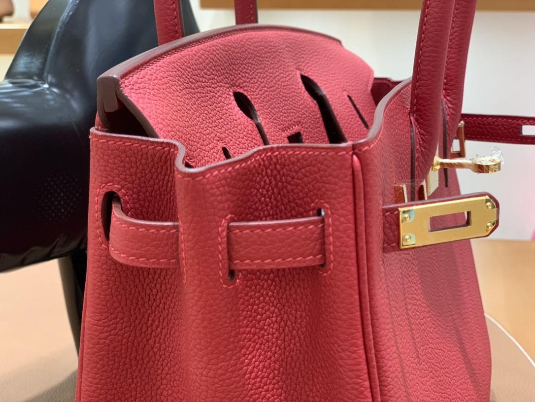 Hermès(爱马仕) Birkin 铂金包 Togo Q5国旗红 金扣 25cm