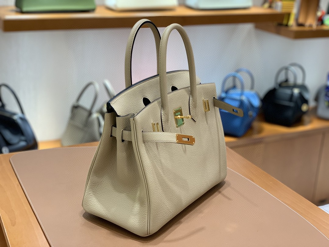 Hermès(爱马仕) Birkin 铂金包 Togo S2 风衣灰 金扣 30cm