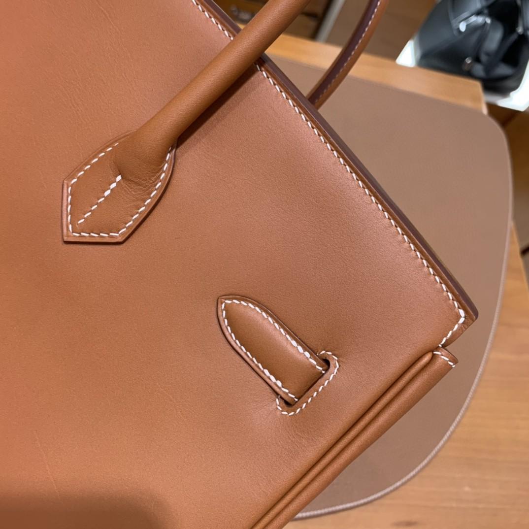 Hermès(爱马仕)Birkin 铂金包 马鞍皮 金棕色 金扣 35cm