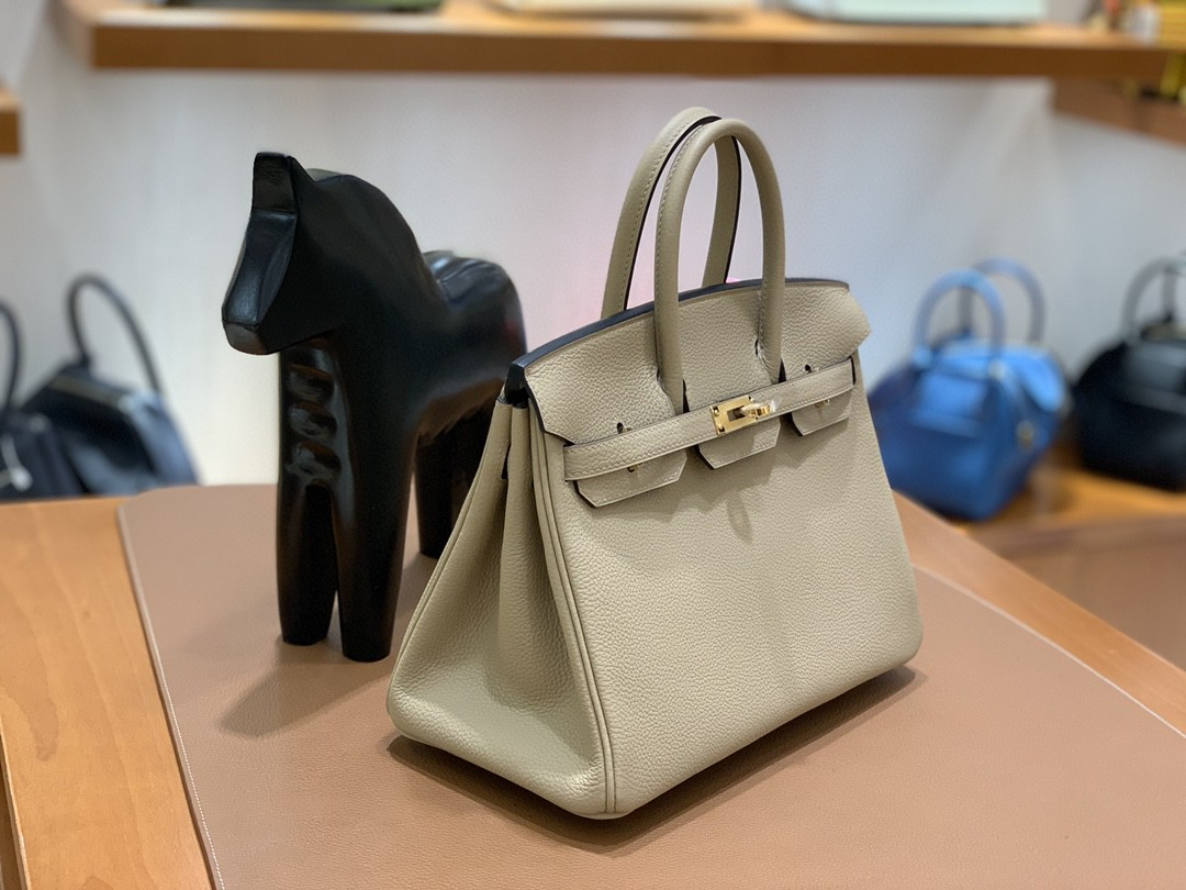Hermès(爱马仕) Birkin 铂金包 Togo S2 风衣灰 金扣 25cm