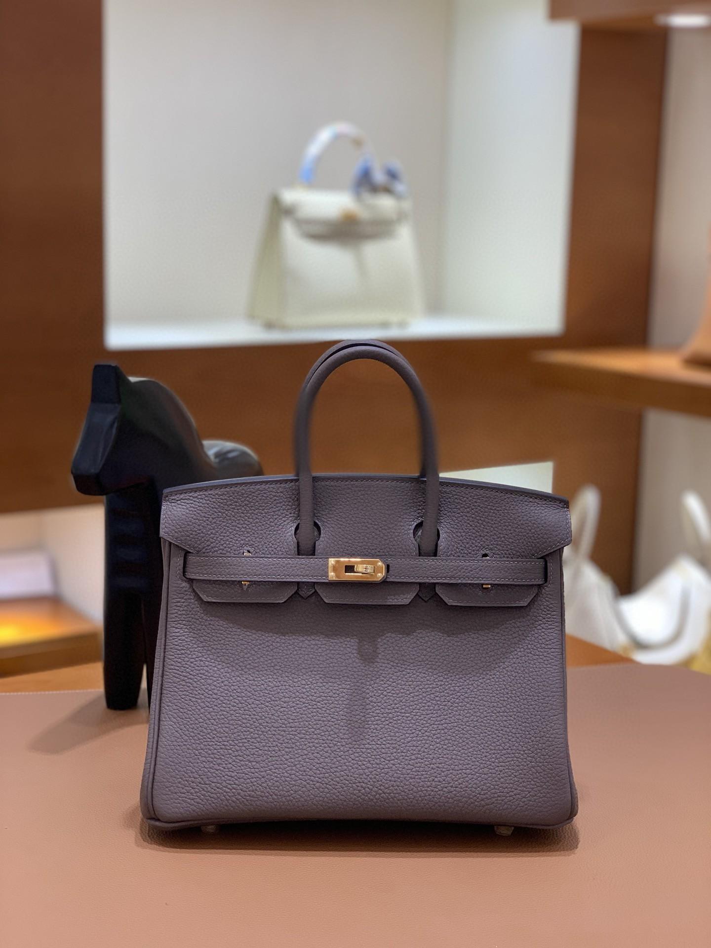 Hermès(爱马仕)Birkin 铂金包 togo 8F锡器灰 金扣 25cm