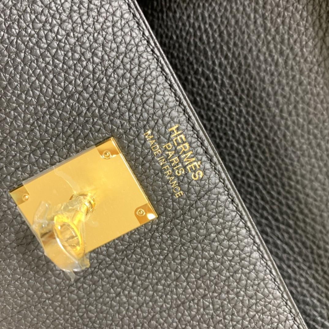 Hermès(爱马仕)Kelly 凯莉包 Togo 黑色 金扣 35cm