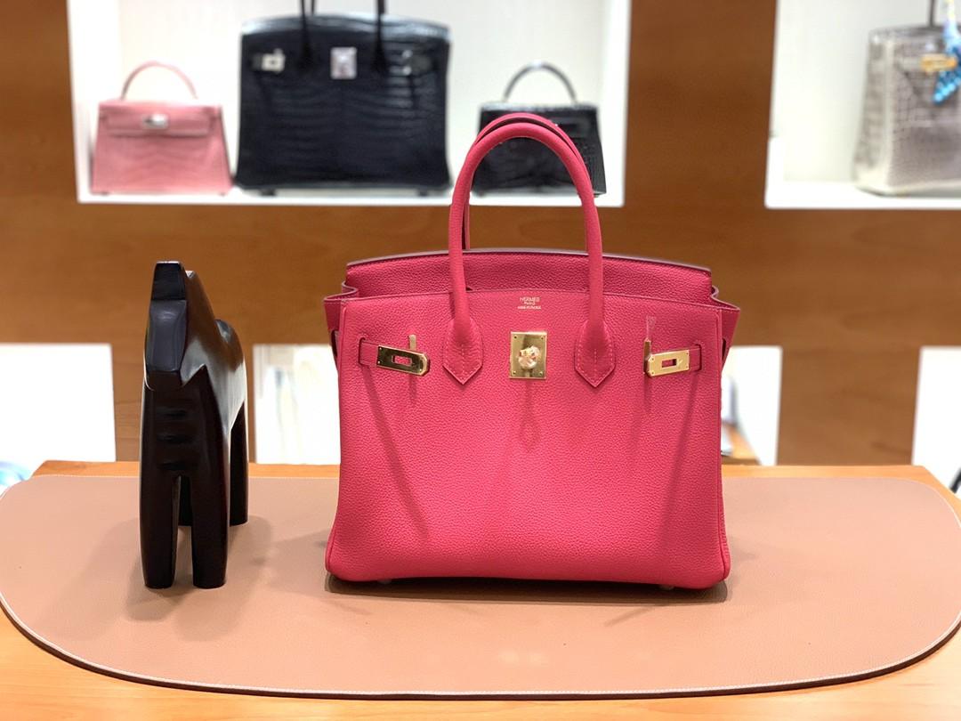 Hermès(爱马仕)Birkin 铂金包 Togo i6极致粉 顶级五金 金扣 30cm
