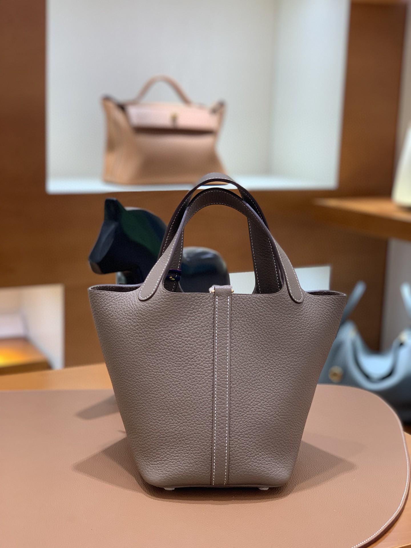 Hermès(爱马仕)Picotin 菜篮子 TC 大象灰 金扣 18cm