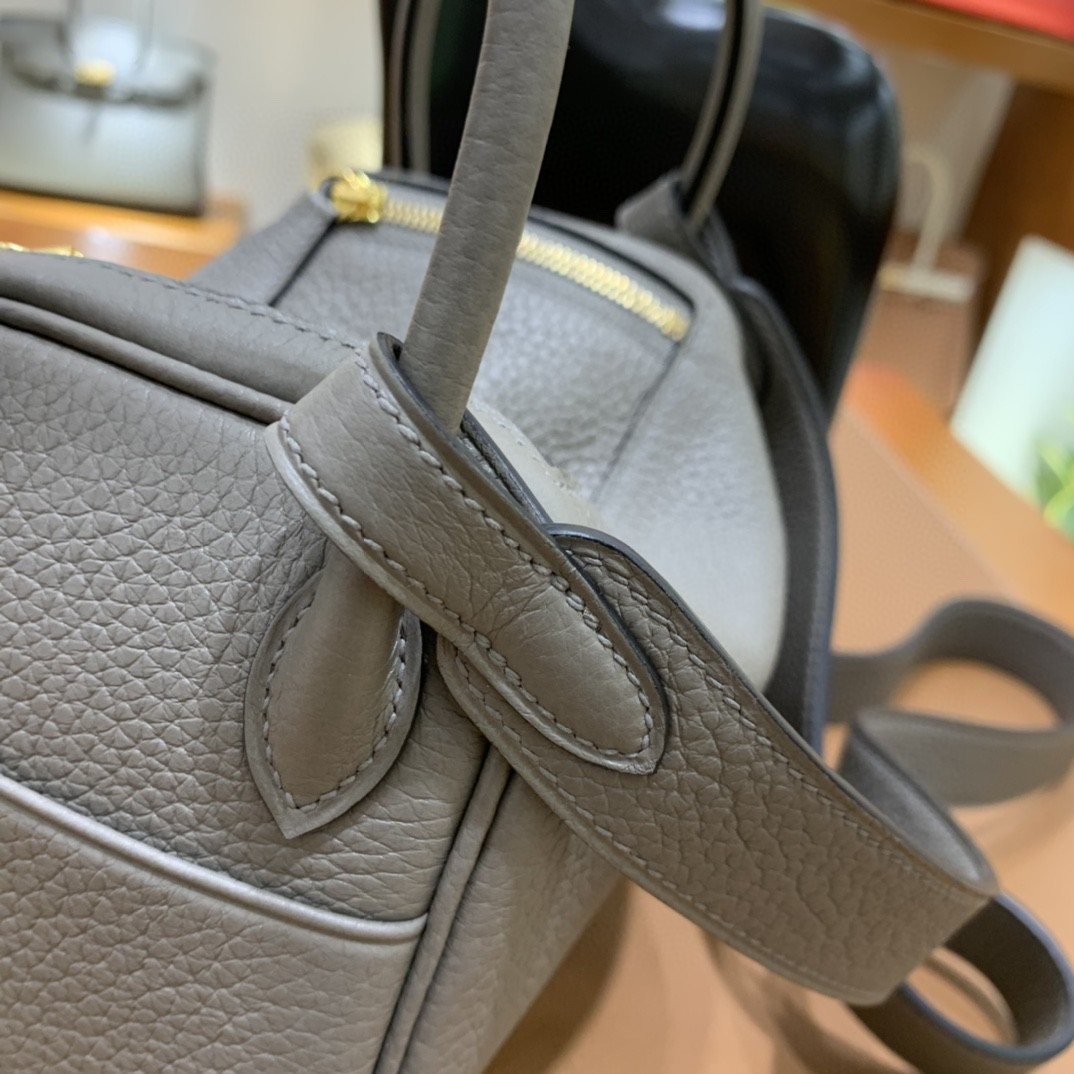 Hermès(爱马仕)mini lindy 迷你琳迪 TC 锡器灰 金扣 19cm