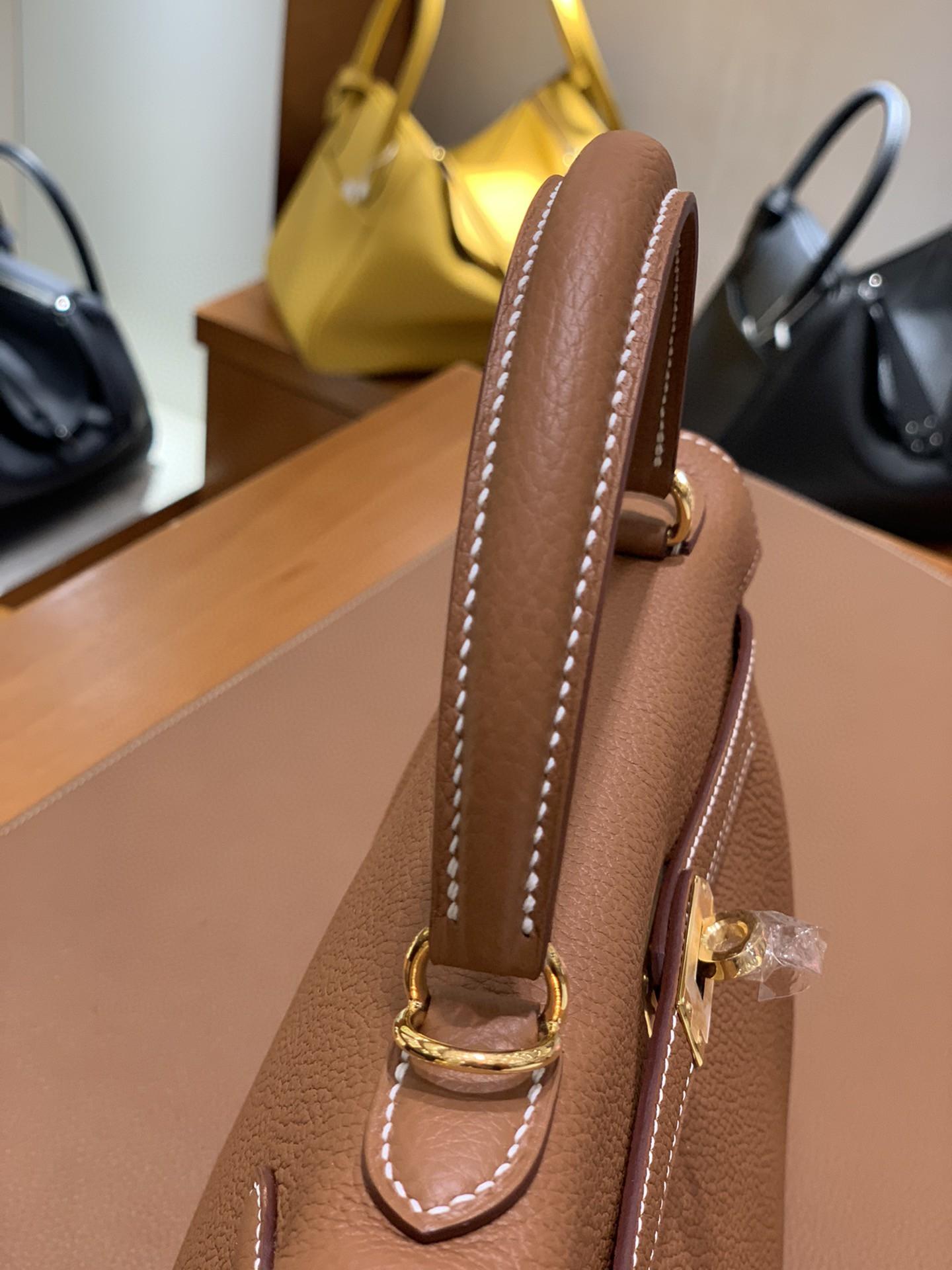 Hermès(爱马仕)Kelly 凯莉包 Togo 金棕色 金扣 25cm 现货