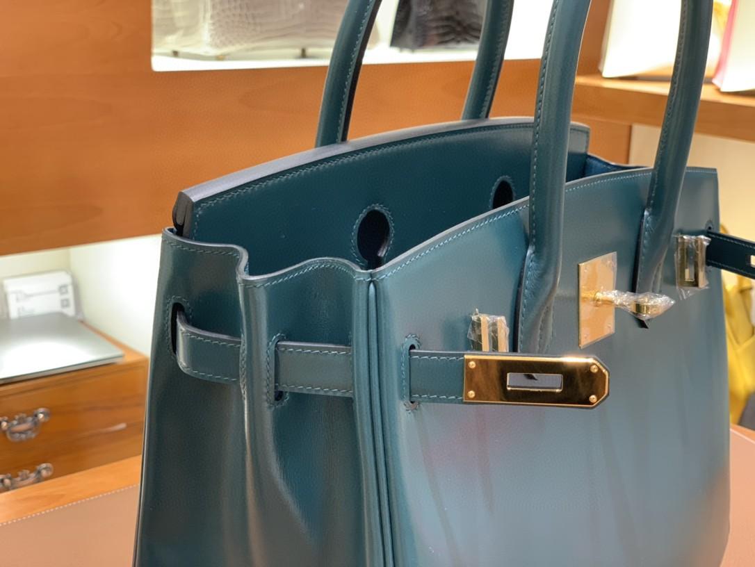 Hermès(爱马仕)Birkin 铂金包 Box皮 英国绿 金扣 30cm