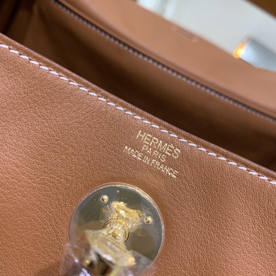 Hermès(爱马仕)Lindy 琳迪包 Swift 金棕色 金扣 26cm