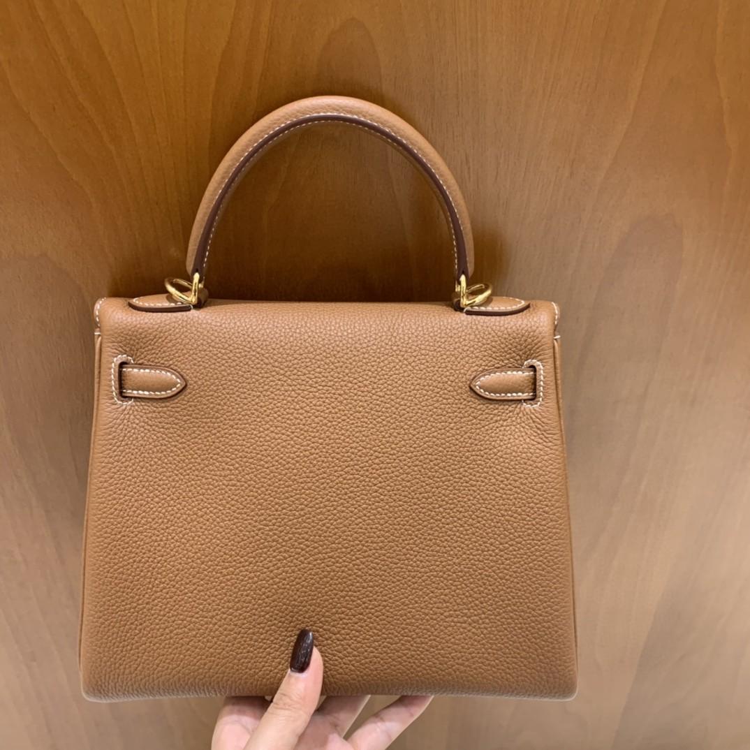 Hermès(爱马仕)Kelly 凯莉包 Togo 金棕色 金扣 25cm
