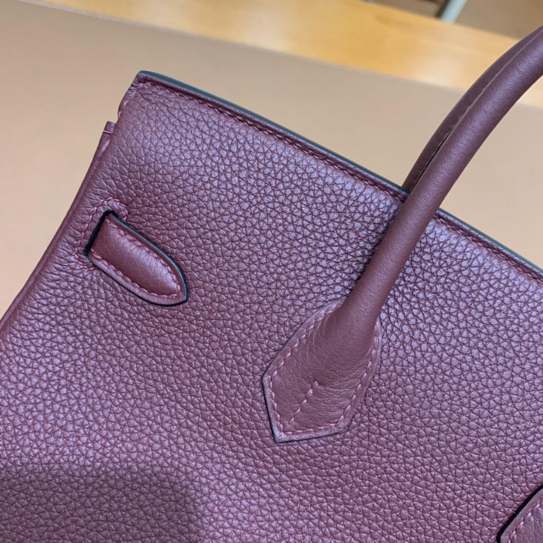 Hermès(爱马仕)Birkin 铂金包 Togo 波尔多酒红 金扣 25cm