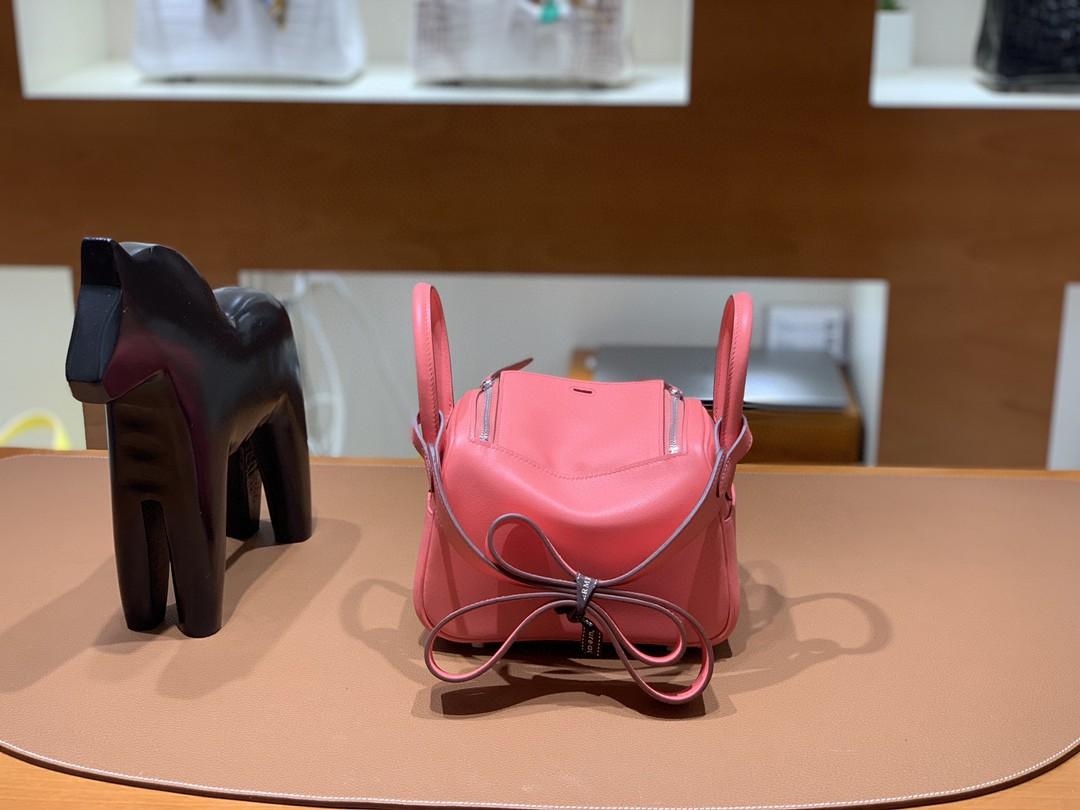 Hermès(爱马仕) minilindy 迷你琳迪 Swift 唇膏粉 银扣 19cm