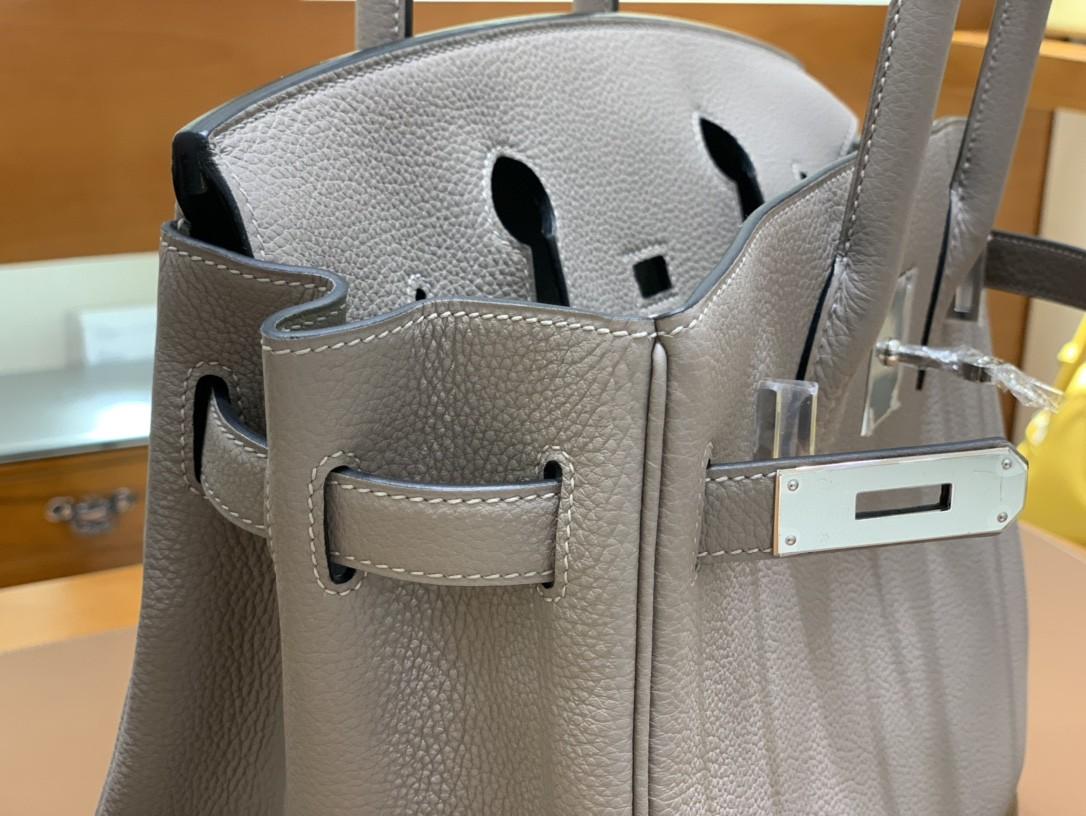 Hermès(爱马仕) Birkin 铂金包 Togo M8 沥青灰 银扣 30cm