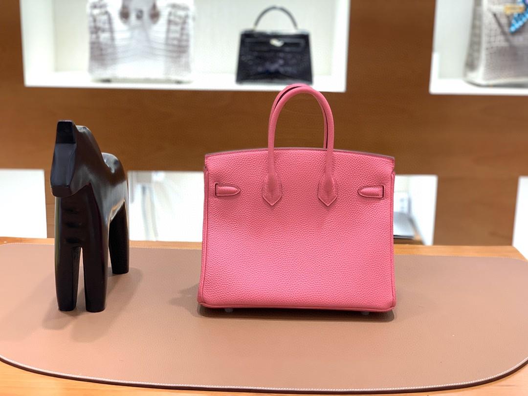 Hermès(爱马仕)Birkin 铂金包 Togo 唇膏粉 银扣 25cm