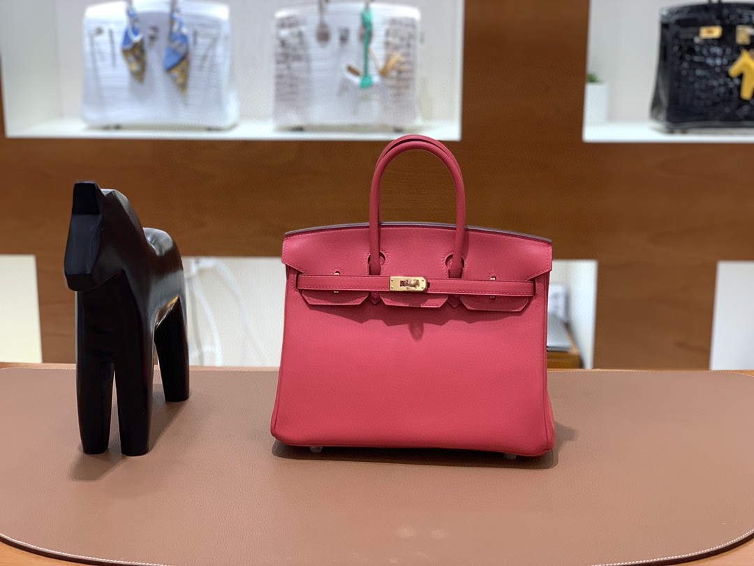 Hermès(爱马仕)Birkin 铂金包 Swift 唇膏粉 金扣 25cm