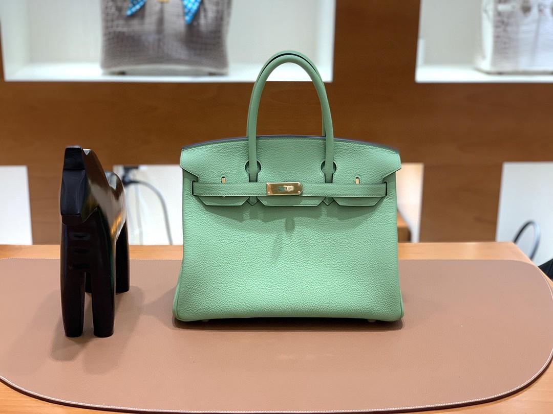 Hermès(爱马仕)Birkin 铂金包 Togo 3i 牛油果绿 金扣 30cm