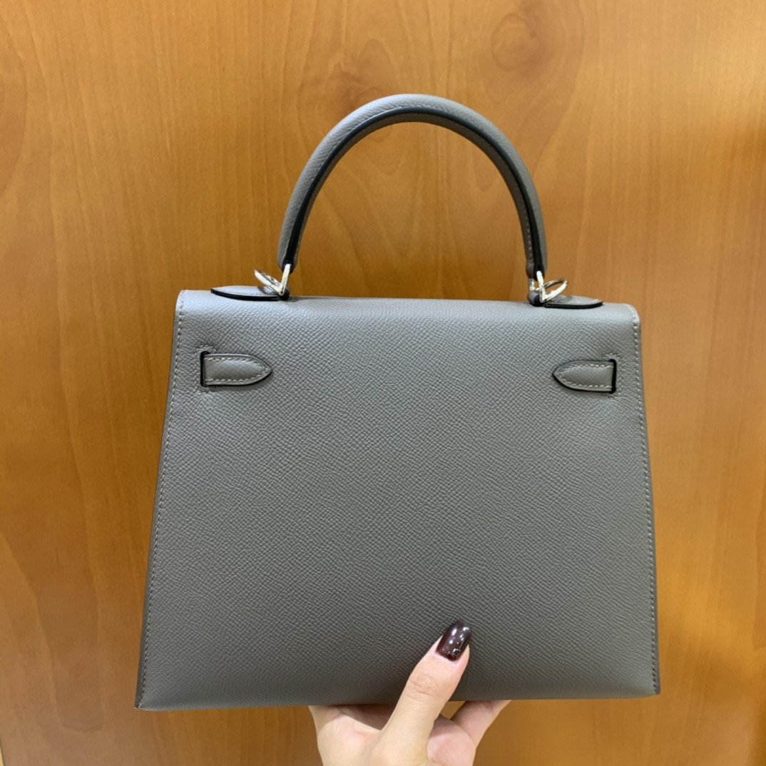 Hermès(爱马仕)Kelly 凯莉包 epsom 锡器灰 银扣 25cm
