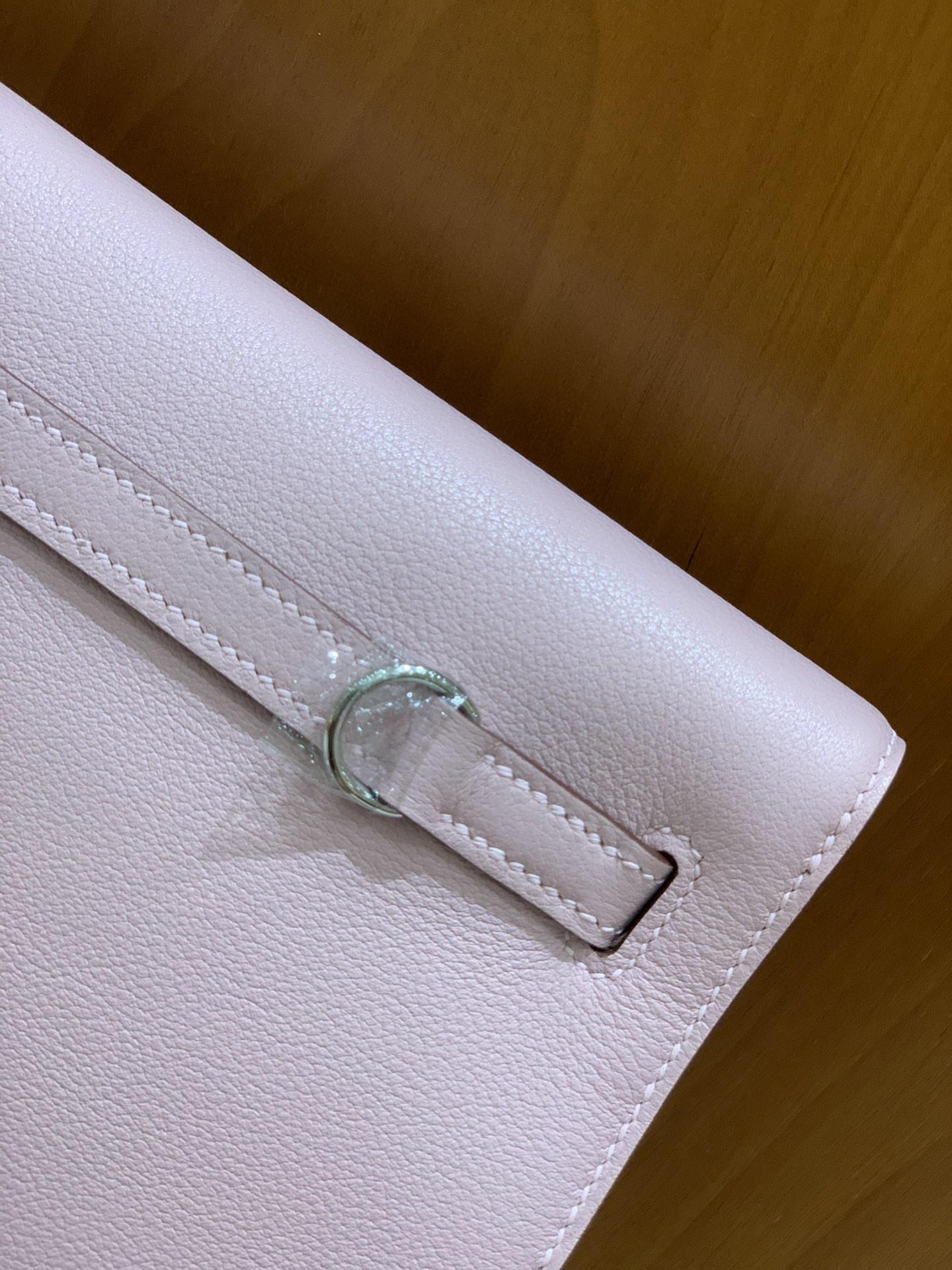 Hermès(爱马仕)Kelly danse 跳舞包 Evercolor X9锦葵紫 22 银扣
