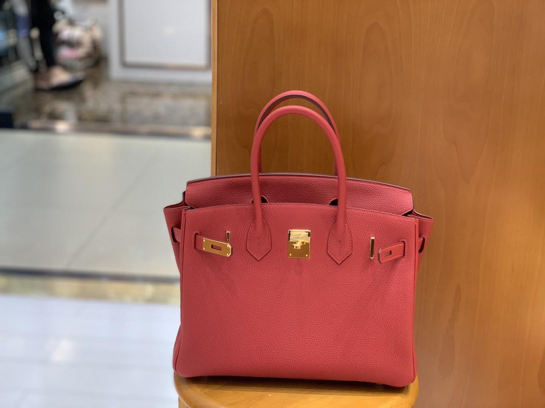 Hermès(爱马仕) Birkin 铂金包 Togo Q5 国旗红 金扣 30cm
