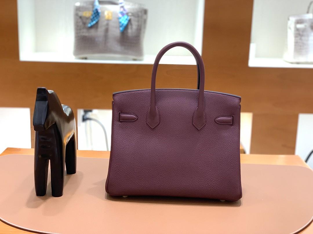 Hermès(爱马仕)Birkin 铂金包 Togo CK57 波尔多酒红 金扣 30cm