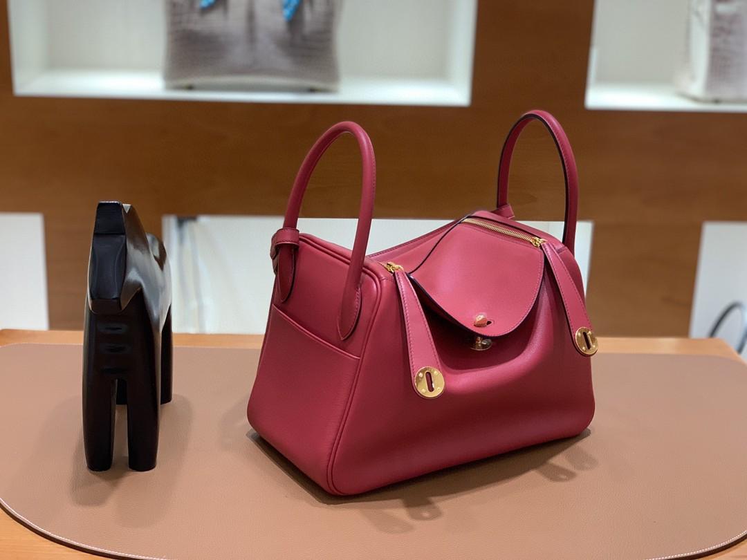 Hermès(爱马仕)Lindy 琳迪包 Swift 宝石红 金扣 30cm