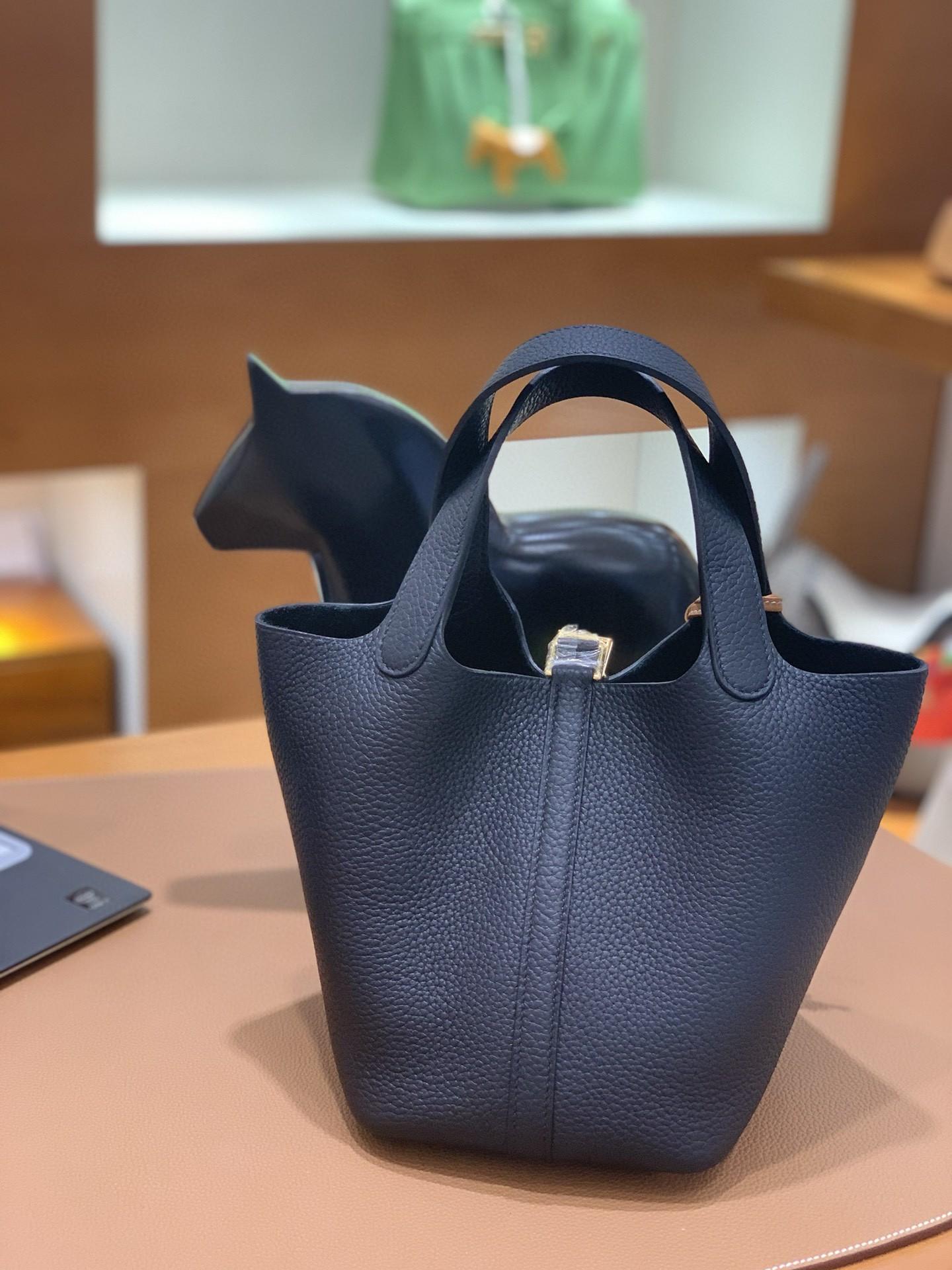 Hermès(爱马仕)Picotin 菜篮子 TC 黑色 金扣 18cm