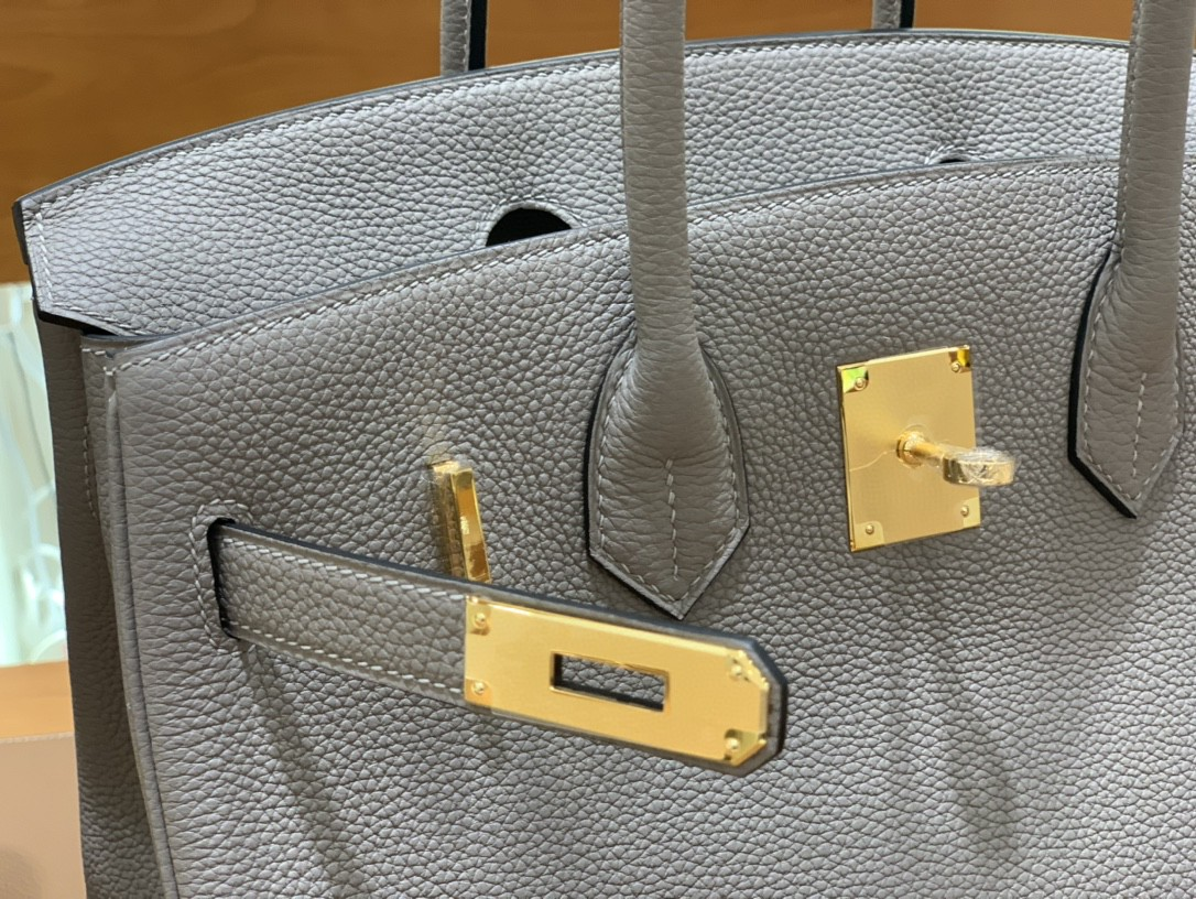 Hermès(爱马仕) Birkin 铂金包 Togo M8沥青灰 金扣 30cm
