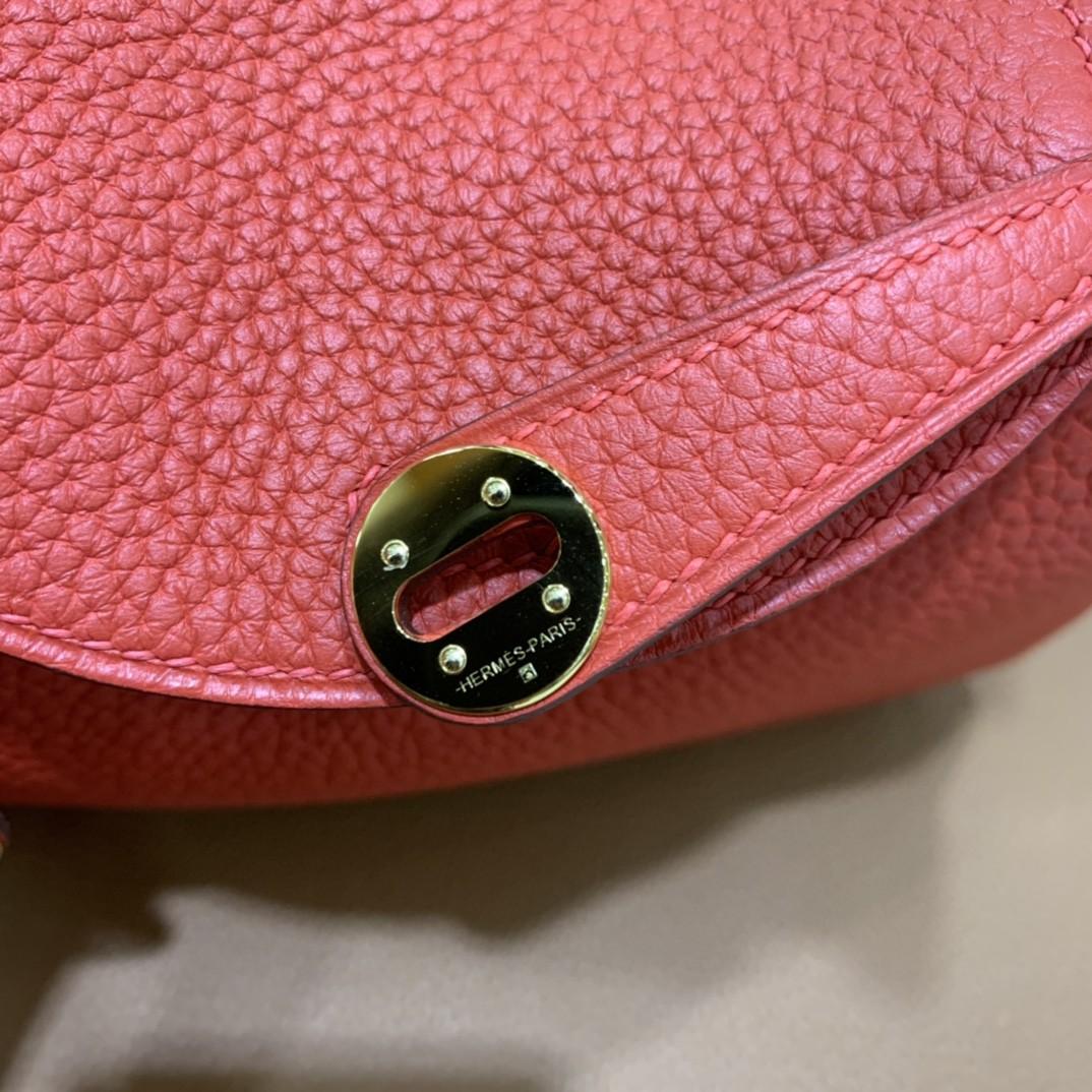 Hermès(爱马仕)minilindy 迷你琳迪 TC 番茄红 金扣
